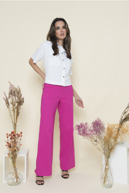 Wide Leg Clara Feminina Com Cintura Alta