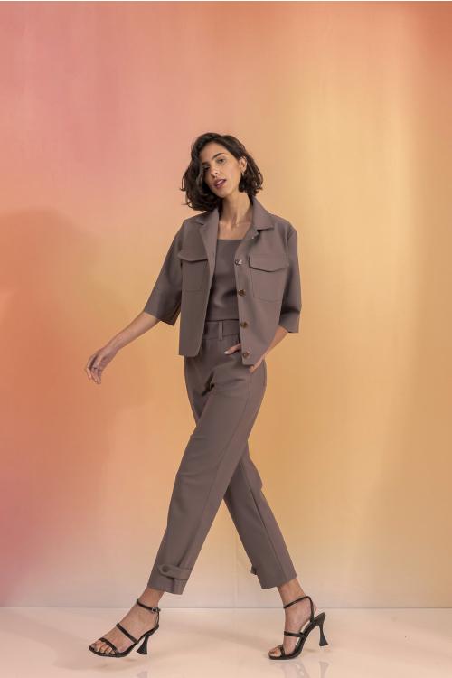 Calça Matisse Feminina Em Ultrablock Com Modelagem Reta