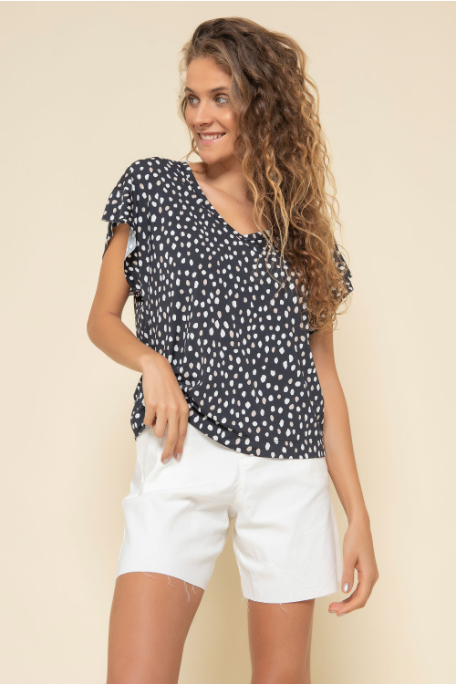 T-Shirt Sun Feminina em Jersey Estampada