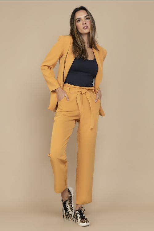 Calça Firenze Feminina Com Modelagem Reta Clochard