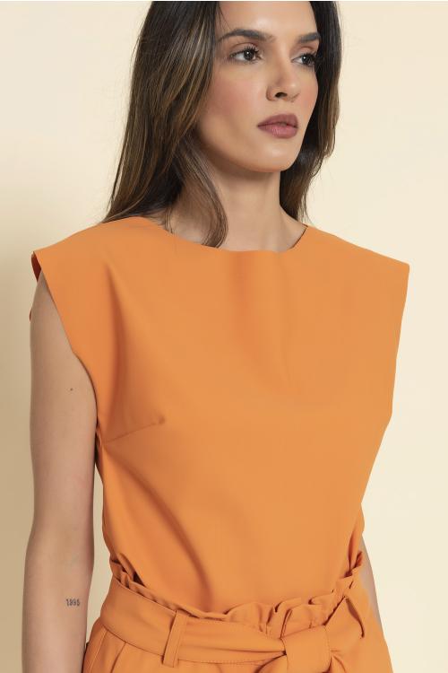 Blusa Aly Feminina Estilo T-Shirt Em Ultrablock Com Decote Redondo