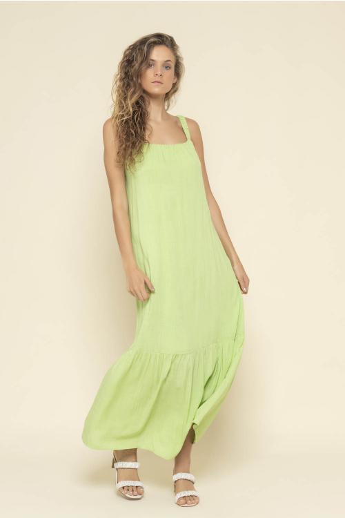 Vestido Lightness Feminino Longo Em Viscose